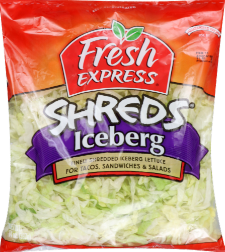 Fresh Express Lettuce Iceberg Shreds Perspective: front