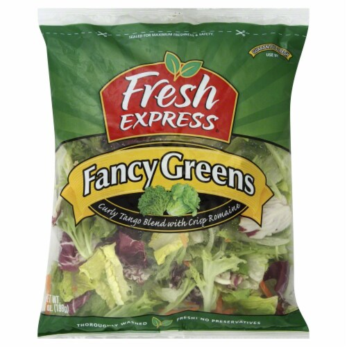 Fresh Express Fancy Greens Salad Perspective: front