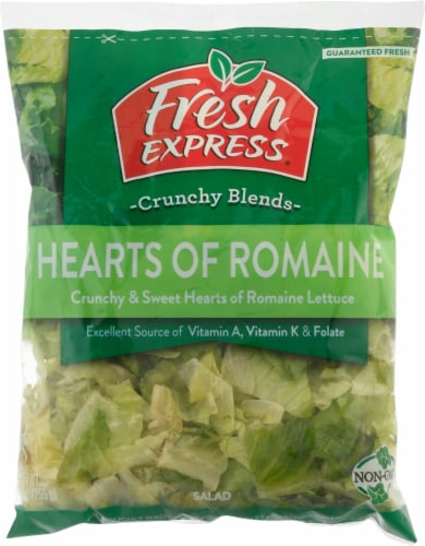 Fresh Express Hearts of Romaine Salad Perspective: front