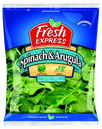 Fresh Express Spinach & Arugula Salad Perspective: front