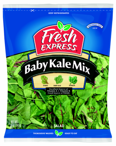 Fresh Express Baby Kale Mix Salad Perspective: front