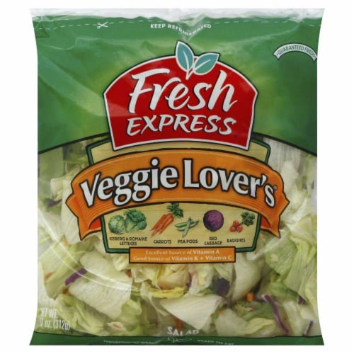Fresh Express Veggie Lovers Salad Perspective: front