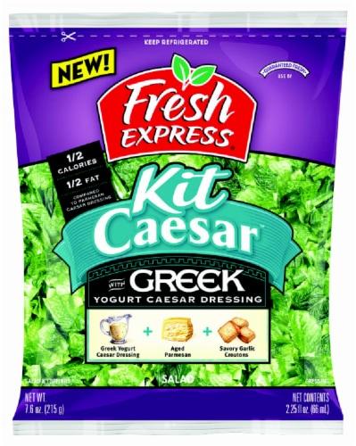 Fresh Express Greek Yogurt Caesar Salad Kit Perspective: front