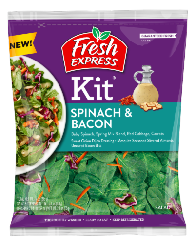 Fresh Express Spinach & Bacon Salad Kit Perspective: front