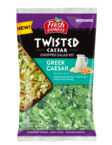 Fresh Express Twisted Greek Caesar Chopped Salad Kit Perspective: front