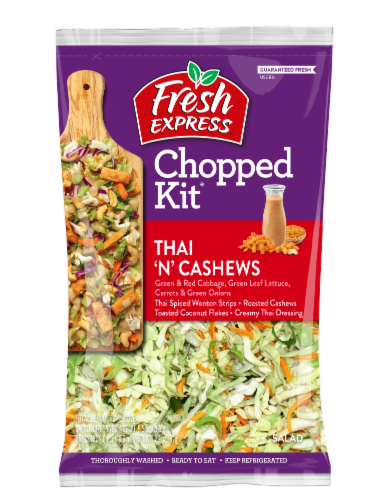 Fresh Express Thai 'N' Cashews Chopped Salad Kit Perspective: front