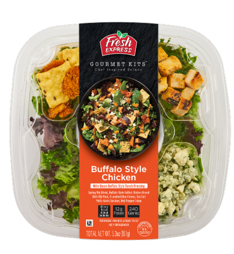 Fresh Express Gourmet Kits Buffalo Style Chicken Salad Kit Perspective: front