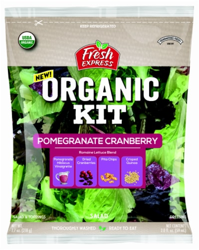 Fresh Express Organic Pomegranate Cranberry Salad Kit Perspective: front