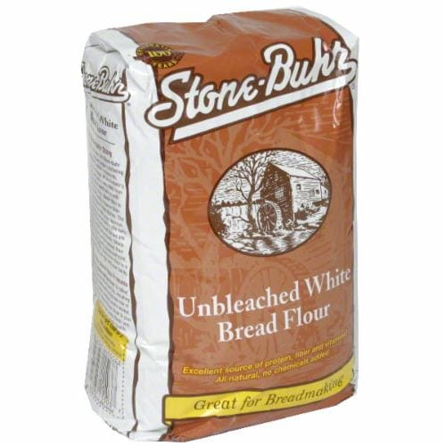 Stone-Buhr Unbleached White Bread Flour Perspective: front