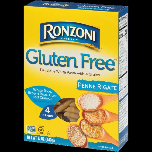 Ronzoni Gluten Free Penne Rigate Pasta Perspective: front