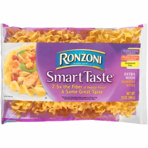 Ronzoni Smart Taste Extra Wide Noodles Perspective: front
