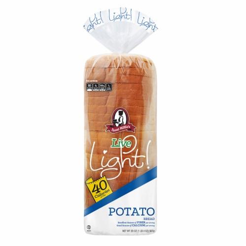Aunt Millie's Live Light Potato Bread Perspective: front