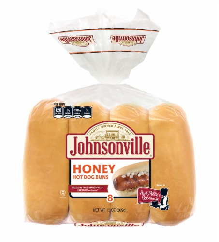 Aunt Millie's Homestyle Honey Hot Dog Buns 8 Count Perspective: front