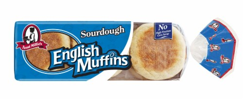 Aunt Millie's Sourdough English Muffins 6 Count Perspective: front