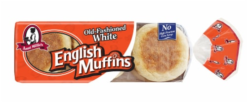 Aunt Millie's Old-Fashioned White English Muffins Perspective: front