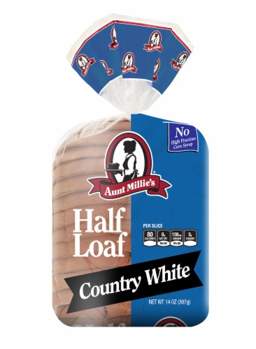 Aunt Millie's Country White Half Loaf Bread Perspective: front