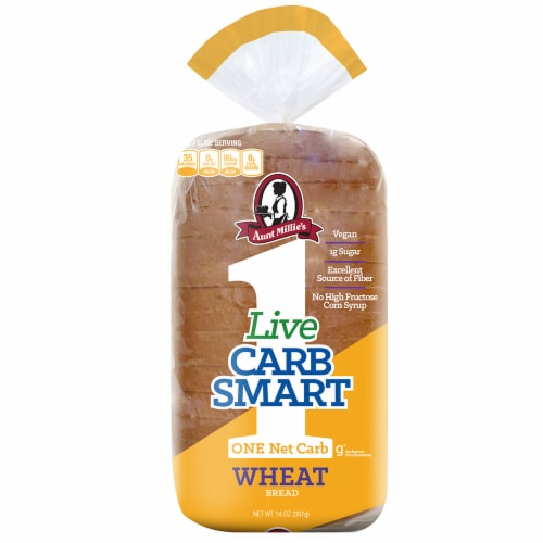Perfection Bakeries Live Carb Smart Wheat Bread Perspective: front