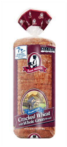 Aunt Millie's Homestyle Cracked Wheat Whole Grain Bread Perspective: front