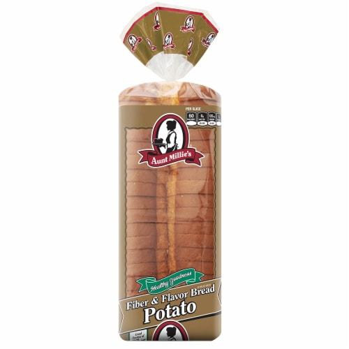 Aunt Millie's Healthy Goodness Fiber & Flavor Potato Bread Perspective: front
