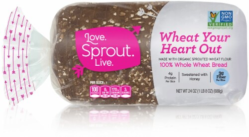 Love Sprout Live Wheat Your Heart Out Bread Perspective: front