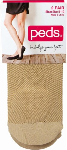 Peds Women's Mesh Pad Liner Socks - 2 Pack - Nude Perspective: front