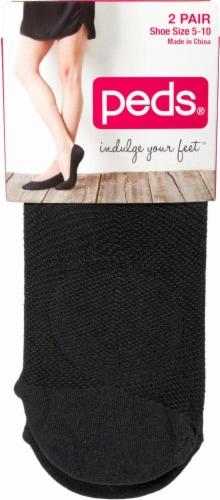 Peds Women's Mesh Pad Liner Socks - 2 Pack - Black Perspective: front