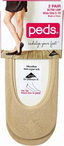 Peds® Women's Ultra Low Cut Liner Socks - 2 Pack - Nude Perspective: front