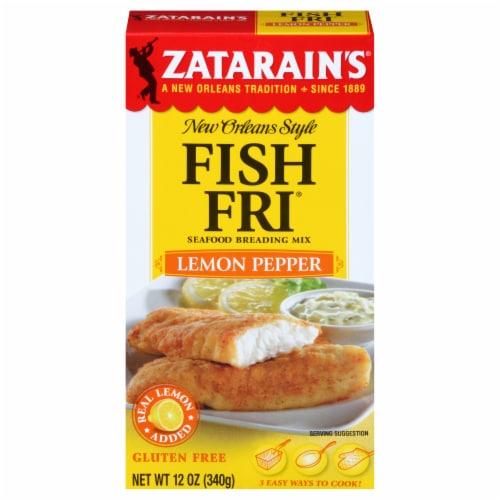 Zatarain's Lemon Pepper Fish-Fri Seafood Breading Mix Perspective: front