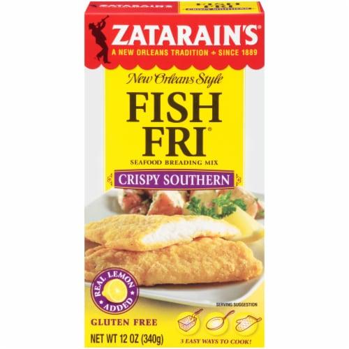 Zatarain's Fish Fri Crispy Southern Seafood Breading Mix Perspective: front