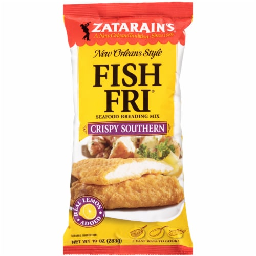 Zatarain's New Orleans Style Fish Fri Crispy Southern Seafood Breading Mix Perspective: front