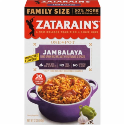 Zatarain's® Original Jambalaya Mix Family Size Perspective: front