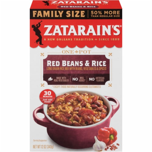 Zatarain's Red Beans & Rice Dinner Mix Family Size Perspective: front