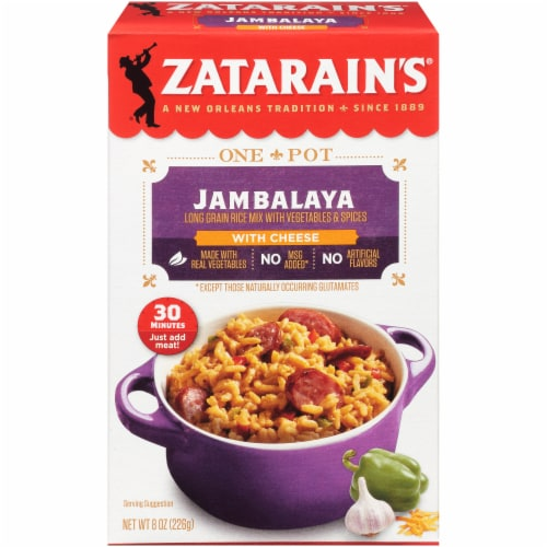 Zatarain's One Pot Jambalaya with Cheese Rice Mix Perspective: front