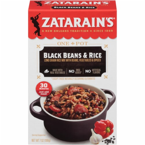 Zatarain's Black Beans & Rice Dinner Mix Perspective: front