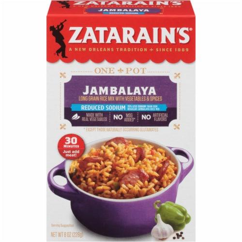 Zatarain's® Reduced Sodium Jambalaya Mix Perspective: front