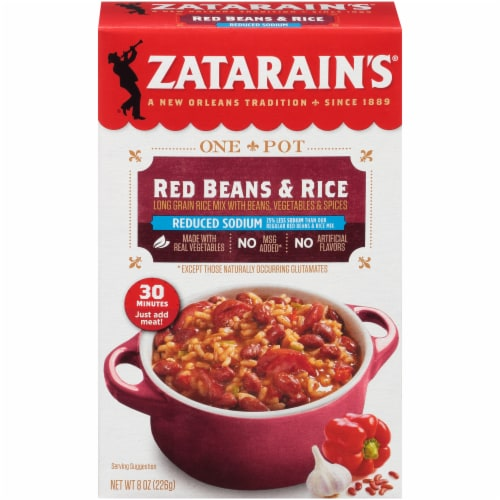 Zatarain's Reduced Sodium Red Beans & Rice Perspective: front