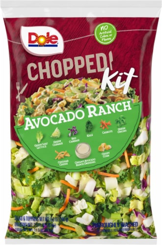 Dole Chopped Avocado Ranch Salad Kit Perspective: front