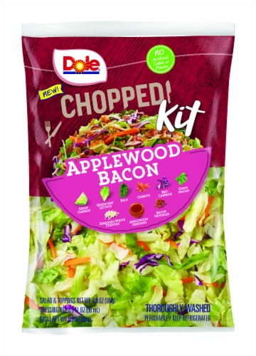 Dole® Chopped Applewood Bacon Salad Kit Perspective: front