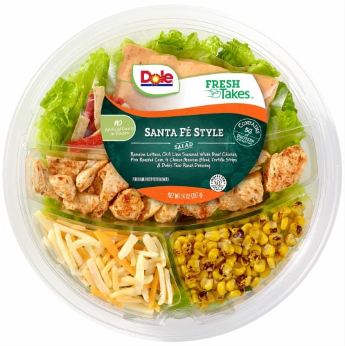 Dole Fresh Takes Santa Fe Style Salad Mix Bowl Perspective: front