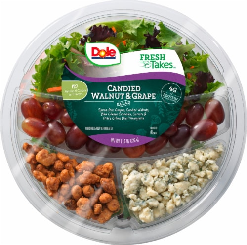 Dole Candied Walnut & Grape Multi Serve Salad Bowl Perspective: front