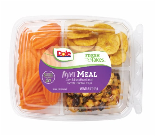 Dole Mini Meal-Corn & Black Bean Salsa Snack Tray Perspective: front