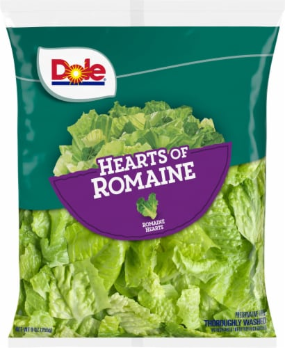 Dole Hearts of Romaine Salad Greens Perspective: front