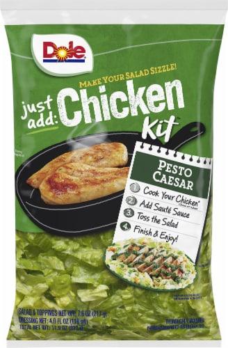 Dole Just Add Chicken Pesto Caesar Salad Kit Perspective: front
