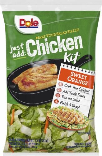Dole Just Add Chicken Orange Chicken Salad Kit Perspective: front