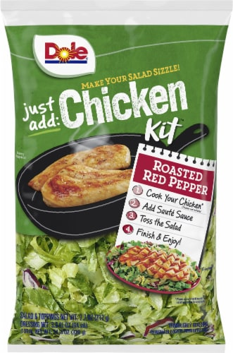 Dole Just Add Chicken Roasted Red Pepper Salad Kit Perspective: front