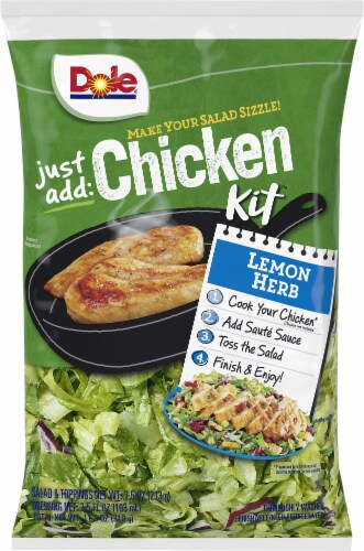 Dole Just Add Chicken Lemon Chicken Salad Kit Perspective: front