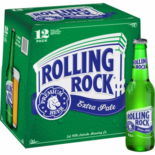Rolling Rock Extra Pale Beer Perspective: front