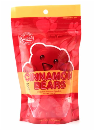 Sweet's Cinnamon Bears Gummy Candy Perspective: front