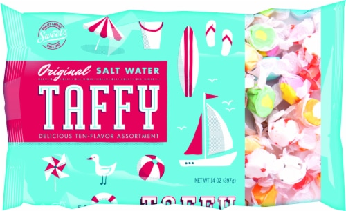 Sweets Original Assorted Salt Water Taffy Bag Perspective: front