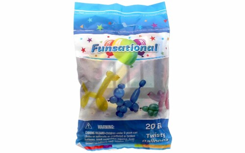 PNL Funsational Balloon Twisty 20pc Astd Perspective: front